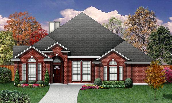 European House Plan 89948 Elevation