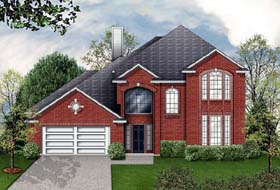European House Plan 89950 Elevation