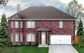 Traditional House Plan 89955 with 4 Beds, 3 Baths, 2 Car Garage Elevation