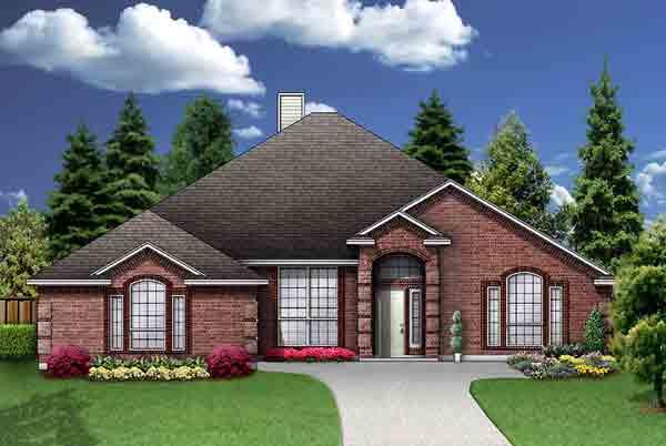 European House Plan 89956 Elevation