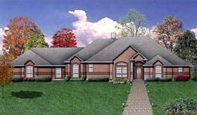House Plan 89958   European Style Plan with 2802 Sq Ft, 4 Bedrooms, 3 Bathrooms, 3 Car Garage Elevation