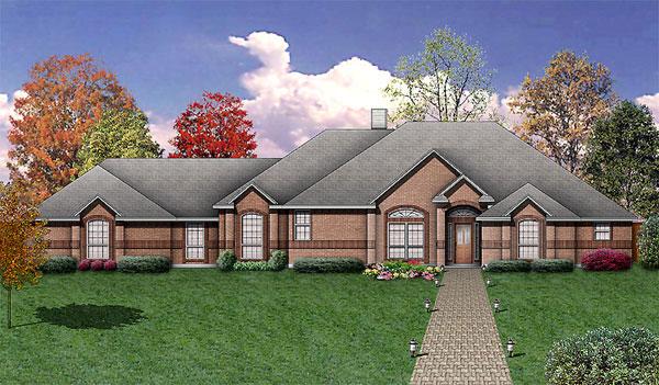 European House Plan 89958 Elevation