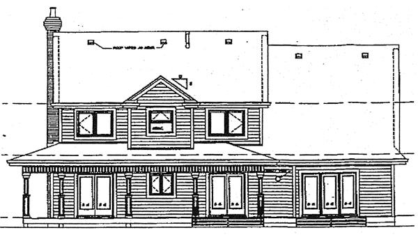 European House Plan 89958 Rear Elevation