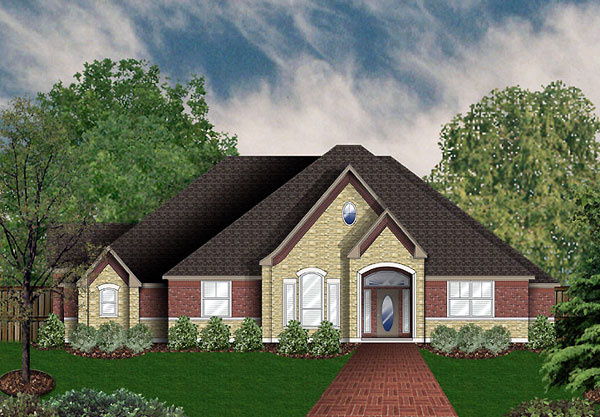 European, Victorian House Plan 89959 with 4 Beds, 3 Baths, 3 Car Garage Elevation
