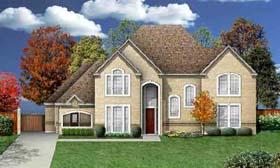 European House Plan 89962 with 4 Beds, 4 Baths, 3 Car Garage Elevation
