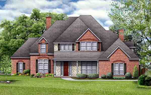 European Tudor House Plan 89964 Elevation