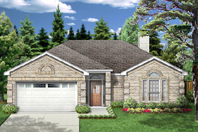European , Traditional House Plan 89970 with 3 Beds, 2 Baths, 2 Car Garage Elevation