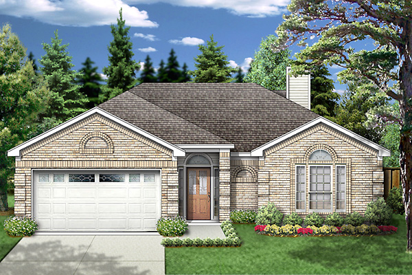European Traditional House Plan 89970 Elevation