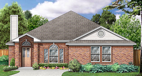 European, Traditional House Plan 89972 with 3 Beds, 2 Baths, 2 Car Garage Elevation