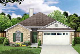 Traditional House Plan 89973 Elevation