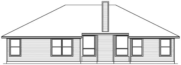 Traditional House Plan 89976 Rear Elevation