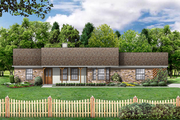 Ranch House Plan 89977 Elevation
