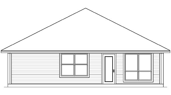Traditional House Plan 89983 Rear Elevation