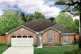 Traditional House Plan 89984 with 3 Beds, 2 Baths, 2 Car Garage Elevation