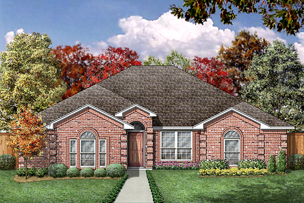 European House Plan 89987 Elevation