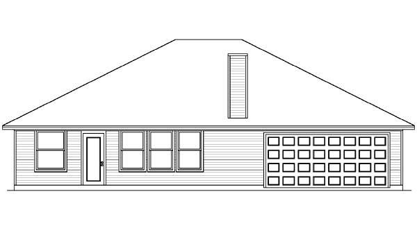 European House Plan 89987 Rear Elevation