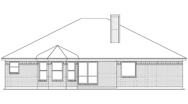 European House Plan 89989 Rear Elevation