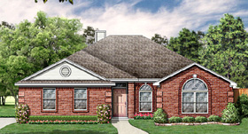 House Plan 89990   European Style Plan with 1768 Sq Ft, 4 Bedrooms, 2 Bathrooms, 2 Car Garage Elevation