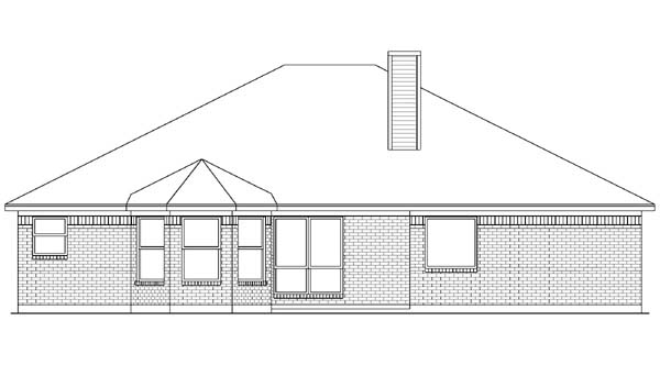 European House Plan 89990 Rear Elevation