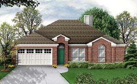 House Plan 89991 | Traditional Style Plan with 1777 Sq Ft, 3 Bedrooms, 2 Bathrooms, 2 Car Garage Elevation
