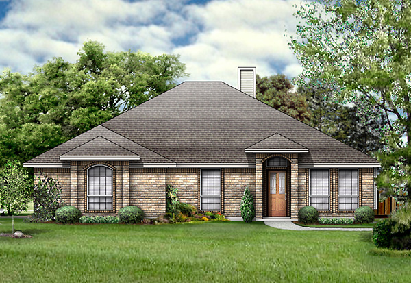 House Plan 89996 | European Style House Plan with 1867 Sq Ft, 3 Bed, 2 Bath, 2 Car Garage Elevation