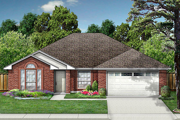 European House Plan 89997 Elevation