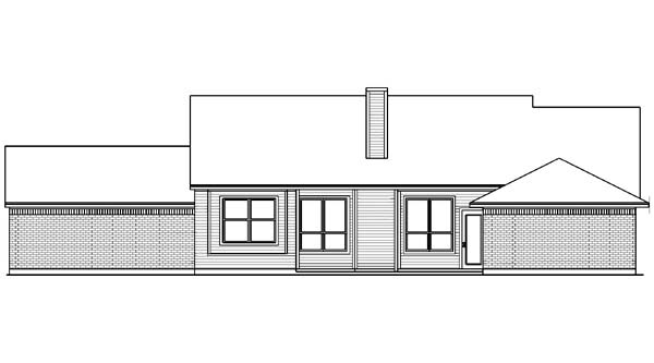 Country House Plan 89999 Rear Elevation