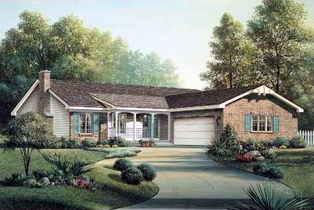 House Plan 90125 Elevation