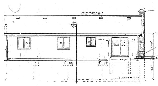 House Plan 90125 Rear Elevation
