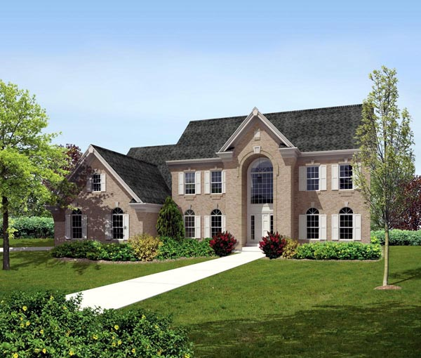 Colonial Traditional House Plan 90198 Elevation