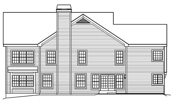 Colonial Traditional House Plan 90198 Rear Elevation