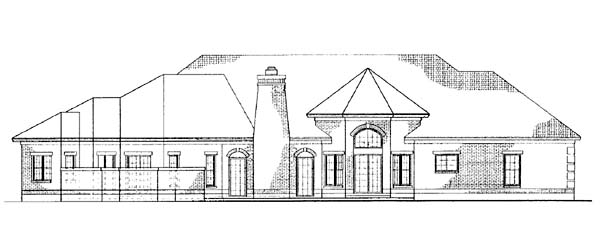 Colonial House Plan 90207 Rear Elevation