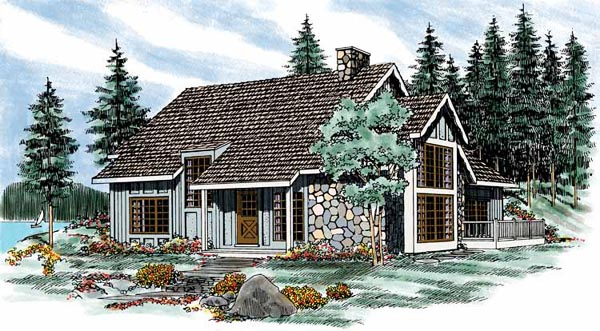 Craftsman House Plan 90208 Elevation