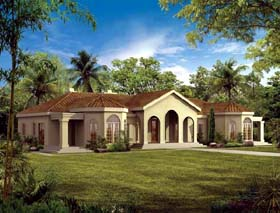 Mediterranean House Plan 90209 Elevation