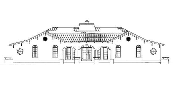 Mediterranean House Plan 90210 Rear Elevation