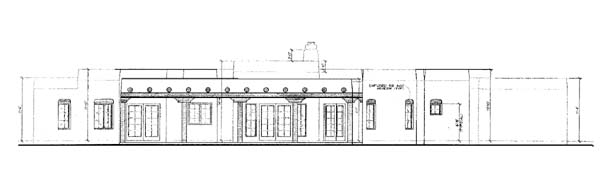 Santa Fe Southwest House Plan 90211 Rear Elevation