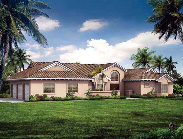 Mediterranean House Plan 90212 Elevation