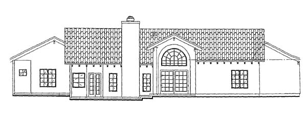 Mediterranean House Plan 90212 Rear Elevation