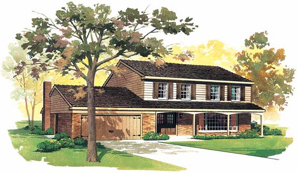 House Plan 90213 Elevation