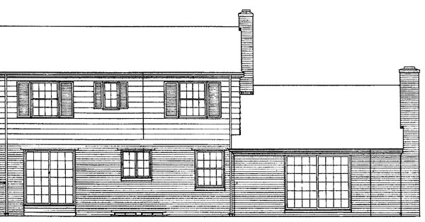House Plan 90213 Rear Elevation