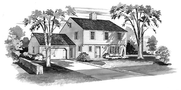 House Plan 90216 Elevation