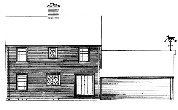 House Plan 90216 Rear Elevation