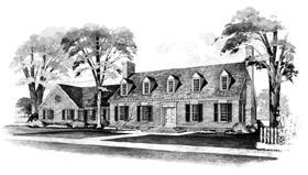 Cape Cod House Plan 90219 with 3 Beds, 3 Baths, 2 Car Garage Elevation