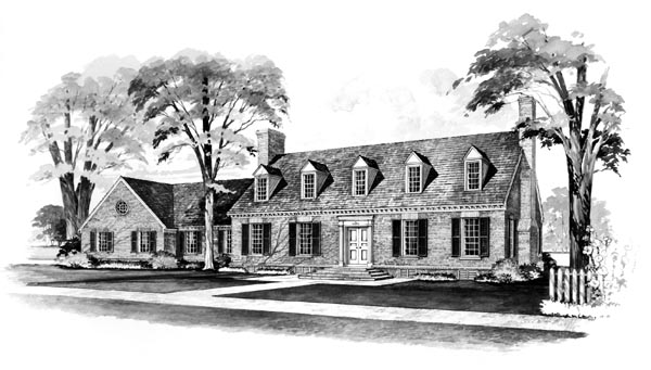 Cape Cod House Plan 90219 Elevation