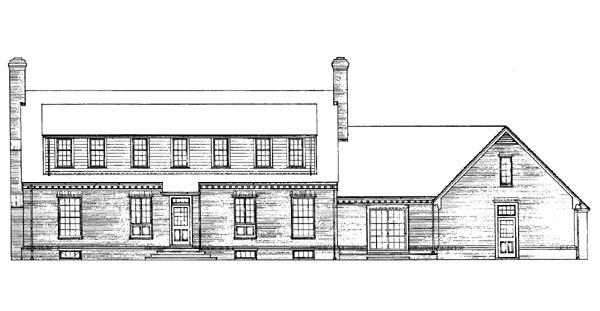 Cape Cod House Plan 90219 Rear Elevation