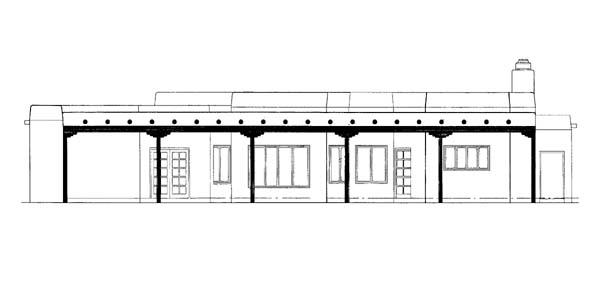 Santa Fe Southwest House Plan 90220 Rear Elevation