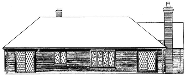 Bungalow Tudor House Plan 90221 Rear Elevation
