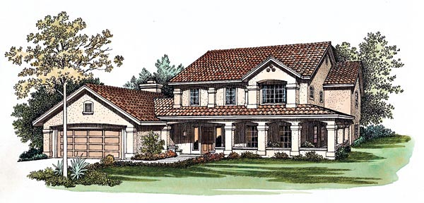 Mediterranean House Plan 90223 Elevation