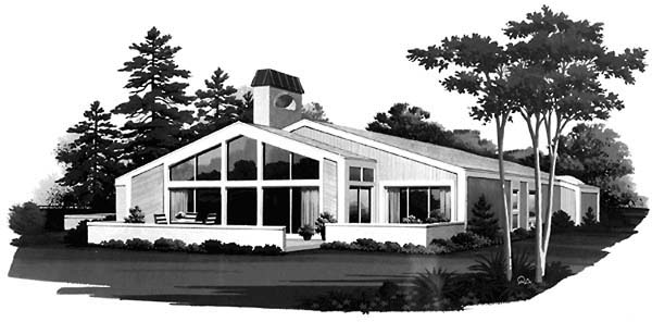 Contemporary House Plan 90224 Rear Elevation