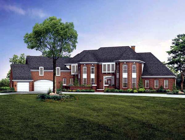 European House Plan 90228 Elevation